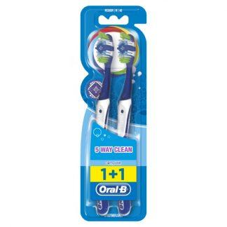 Oral-B Complete 5 Way Clean Μέτρια Χειροκίνητη Οδοντόβουρτσα X2
