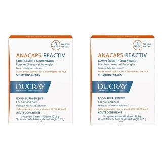 Ducray Anacaps Reactiv 2X30caps -50% στο 2ο Προϊόν