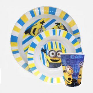 Stor Minions Βρεφικό Πιάτο, Μπολ & Ποτηράκι 3τμχ