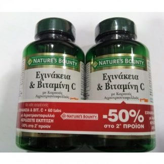 Nature's Bounty Echinacea & Vitamin C 2X60tabs -50% στο 2ο προιον