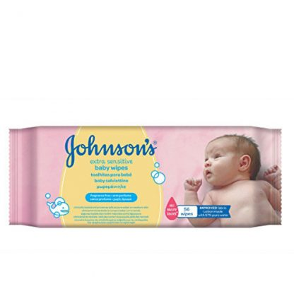 Johnson's Extra Sesnsitive Baby Wipes 56 Μωρομάντηλα
