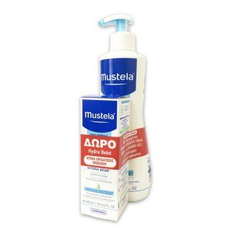 Mustela Set Gentle Cleansing Gel 500ml & Δώρο Hydra Bebe Facial Cream 40ml