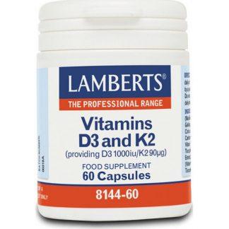 Lamberts Vitamin D3 1000iu & K2 90µg 60caps