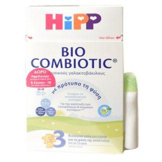 Hipp Bio Combiotic 3 Βιολογικό Βρεφικό Γάλα από τον 12ο μήνα 600gr & Αφρόλουτρο 50ml