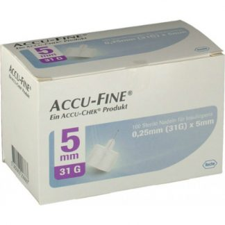 Accu-Fine 0,25mm X 5mm Βελόνες μέτρησης σακχάρου 100τμχ