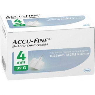 Accu-Fine 0,23mm X 4mm Βελόνες μέτρησης σακχάρου 100τμχ