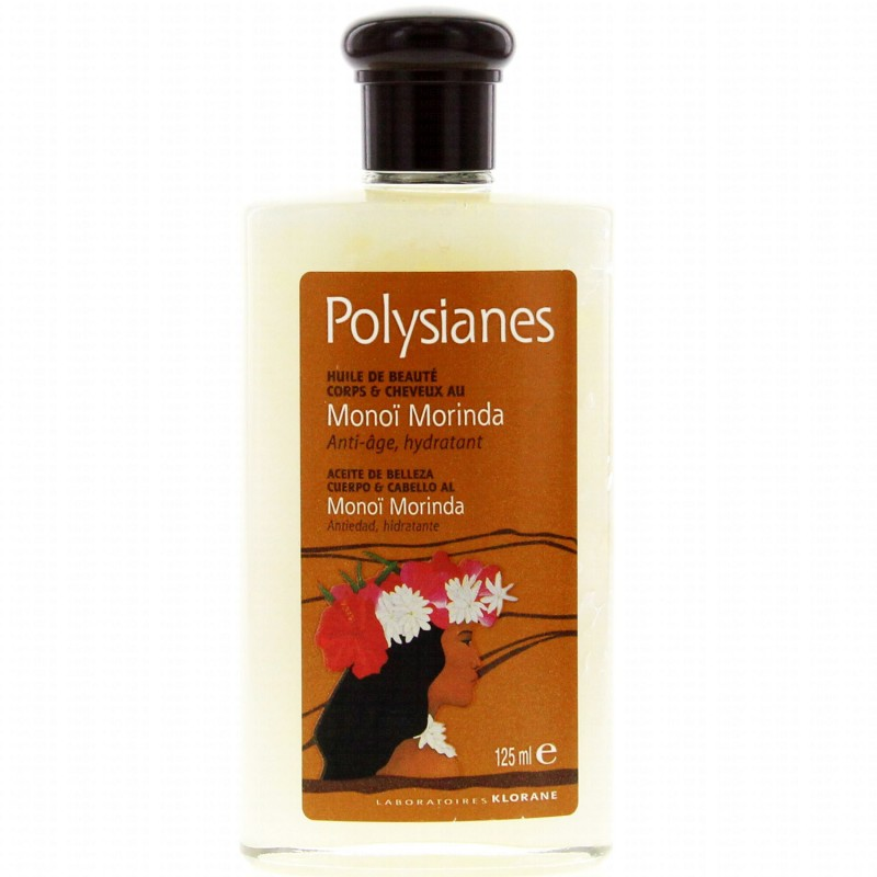 polysianes monoi morinda huile de beaute corps cheveux 125ml. Black Bedroom Furniture Sets. Home Design Ideas