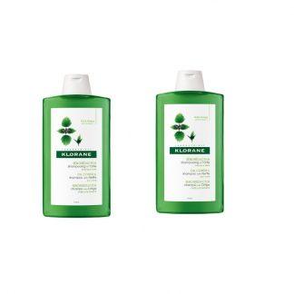 Klorane Shampoo Τσουκνίδα κατά της Λιπαρότητας 2x400ml -50% στο 2ο προιόν