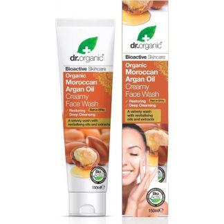Dr.Organic Bioactive Skincare Organic Moroccan Argan Oil Creamy Face Wash 150ml