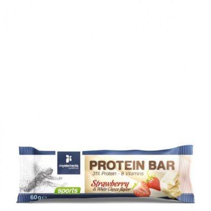 My Elements Protein Bar Strawberry & White Choco 60gr