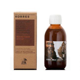 Korres Syrup Honey Base Σιρόπι για το Λαιμό 200ml