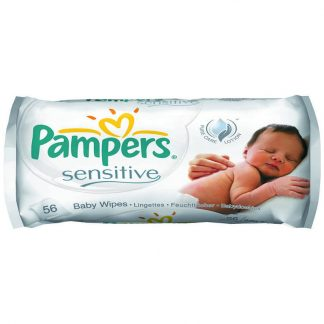 Pampers Μωρομάντηλα Sensitive Μονή Συσκευασία 56 μωρομάντηλων
