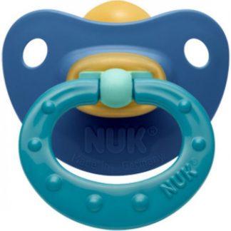 Nuk Classic Soft Καουτσούκ Μπλε - Πράσινη 0-6m 1τμχ (10.725.878)